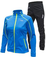 Утеплённый лыжный костюм RAY Race WS Blue-Lime женский