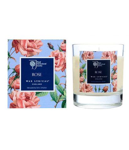 Свеча ароматическая в стекле Цветущая роза, Wax Lyrical