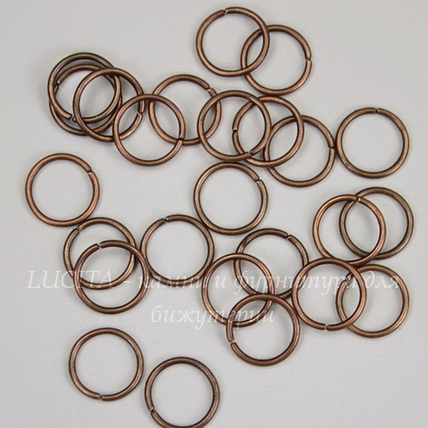 Комплект колечек одинарных 10х1 мм (цвет - античная медь), 20 гр (примерно 120 шт)