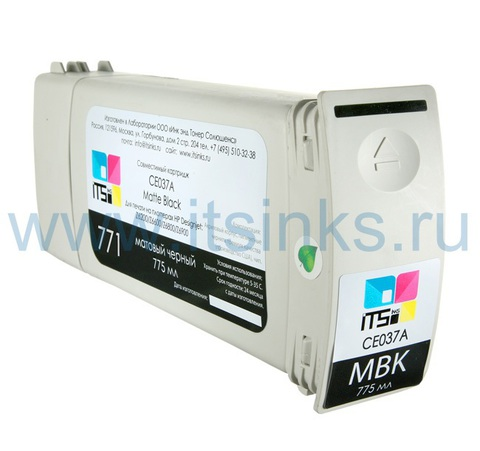 Картридж для HP 771 (CE037A) Matte Black 775 мл