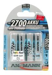 NiMH аккумулятор AA / HR6 Тип 2700 (мин. 2500 мАч) 4 шт