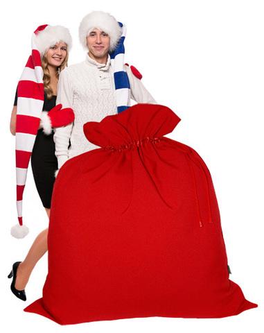Огромный Мешок Деда Мороза красный