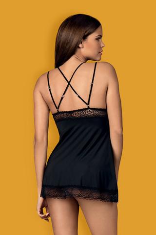Эротическая сорочка-бэбидол Lolitte черного цвета