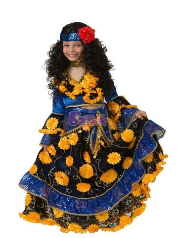 Карнавальный костюм Цыганка-гадалка синяя