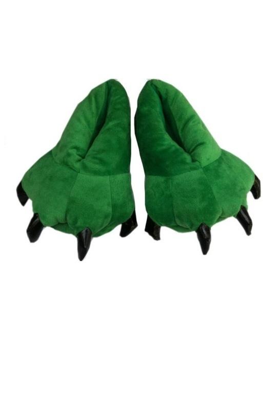 Тапочки Тапочки Зелёные тапки_лапки_зеленые.jpg