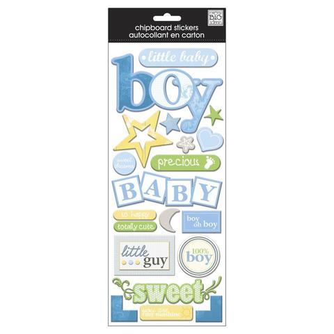 Стикеры обьемные mambi Chipboard Stickers Baby Boy - Flock 13х30 см
