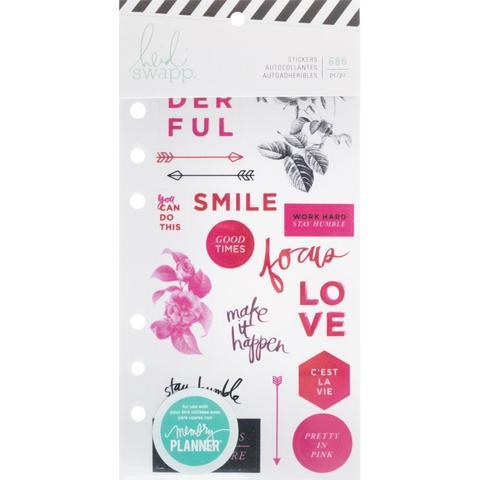 Стикербук - Heidi Swapp Memory Planner Cardstock Stickers - Fresh Start, Elegant-686 шт
