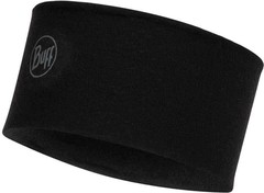 Шерстяная повязка Buff Headband Midweight Wool Solid Black