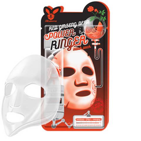 Elizavecca Регенерирующая тканевая маска для лица с экстрактом красного женьшеня 23мл