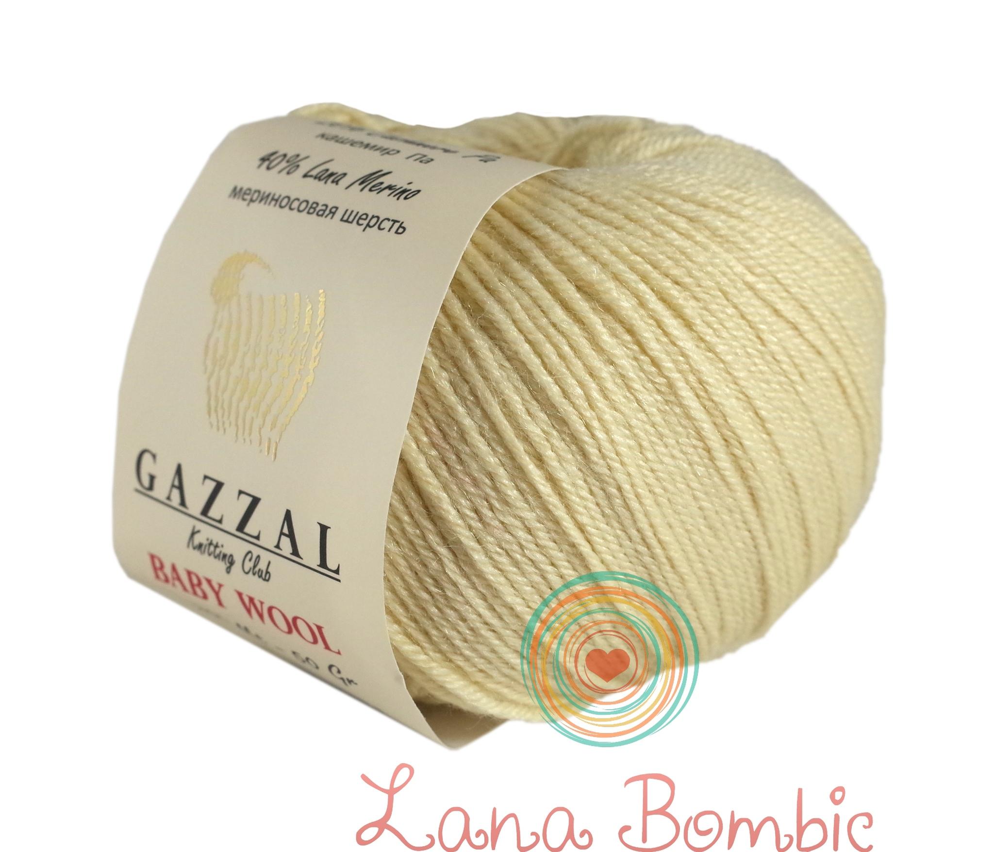 Пряжа Gazzal Baby Wool экрю 829