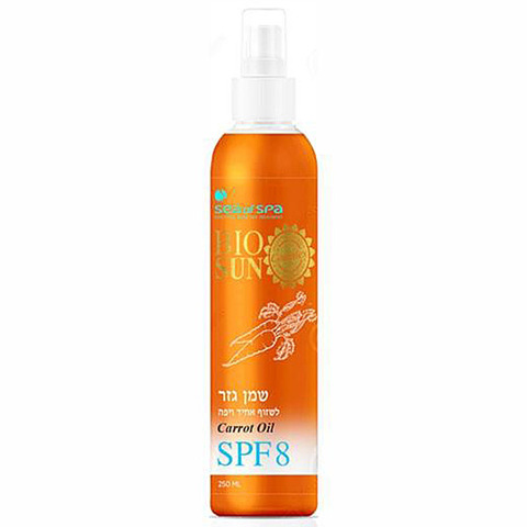 Морковное масло для бронзового загара SPF-8 Mineral Sun Block Sea of SPA, 250мл