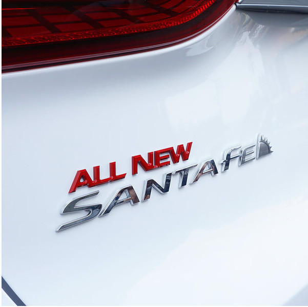 Значек All New Santa Fe Mobis для Санта Фе 4 (Hyundai Santa Fe 2018 - 2019)