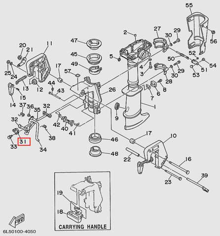 Кронштейн шарнирный  для лодочного мотора T3 SEA-PRO (15-31)