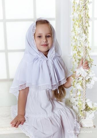 Церковный платок для девочки Алена