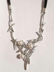 Иероглиф (серебряное колье)