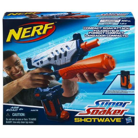 Hasbro: Водяной бластер Nerf Супер Соакер Шот Вэйв A2279  — Nerf Super Soaker Shotwave Blaster — Нерф Нёрф Хасбро