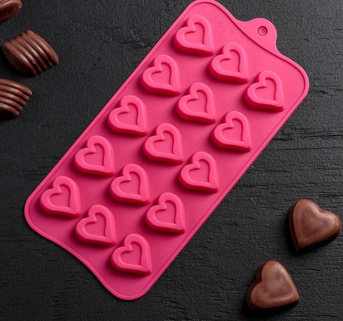 Форма для шоколада «Сердце»