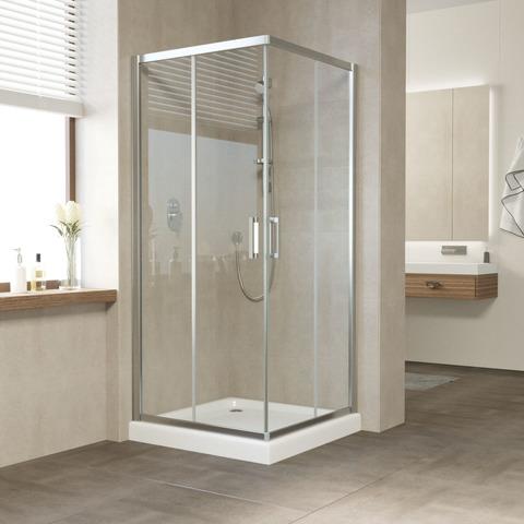 Душевой уголок Vegas Glass ZA профиль глянцевый хром, стекло прозрачное