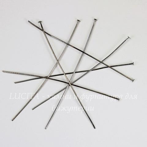 Комплект пинов - гвоздиков 70х0,8 мм (цвет - черный никель), 40 гр (примерно 140 шт)