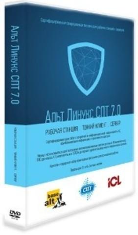 Апгрейд Бессрочной лицензии Альт Линукс СПТ 6.0 Тонкий клиент на Бессрочную лицензию Альт Линукс СПТ 7.0 Тонкий клиент, сертификат ФСТЭК с комплектом дисков и документации КИТ