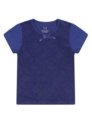 GKT004643 блузка детская, темно-синяя
