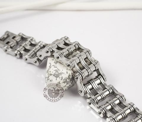 BM307 Широкий мужской браслет цепь из стали (22 см)