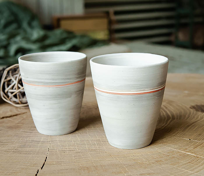 CUP107-1 Оригинальный керамический стакан ручной работы фото 04