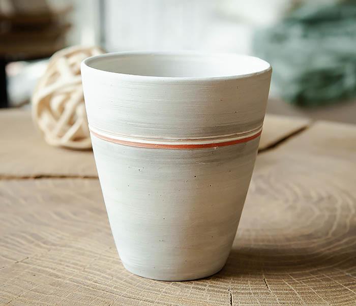 CUP107-1 Оригинальный керамический стакан ручной работы фото 05