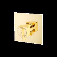Смеситель Migliore Kvant Gold 25404 для душа термостат встраиваемый, золото