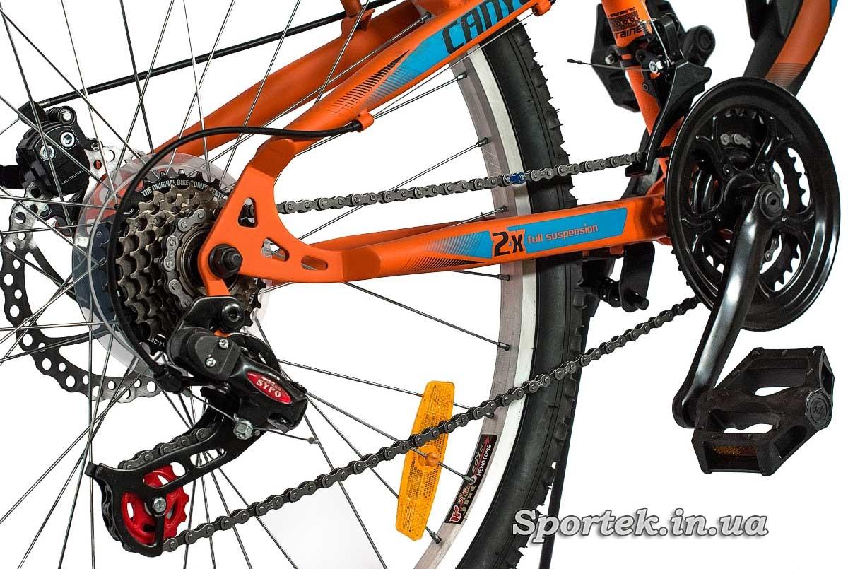 Трансмиссия горного мужского велосипеда Discovery Canyon DD 2016  (Дискавери Каньон)