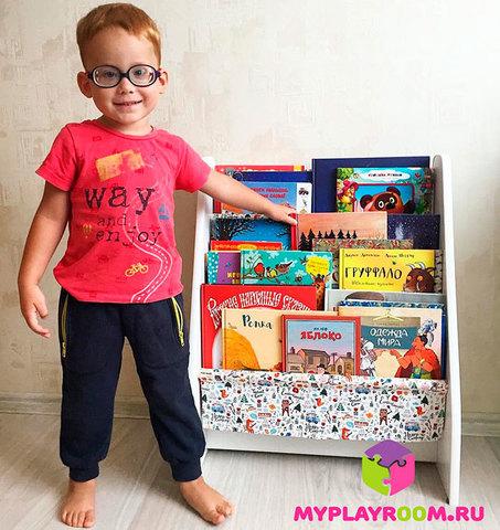 Детская полочка для книг в духе Монтессори 10