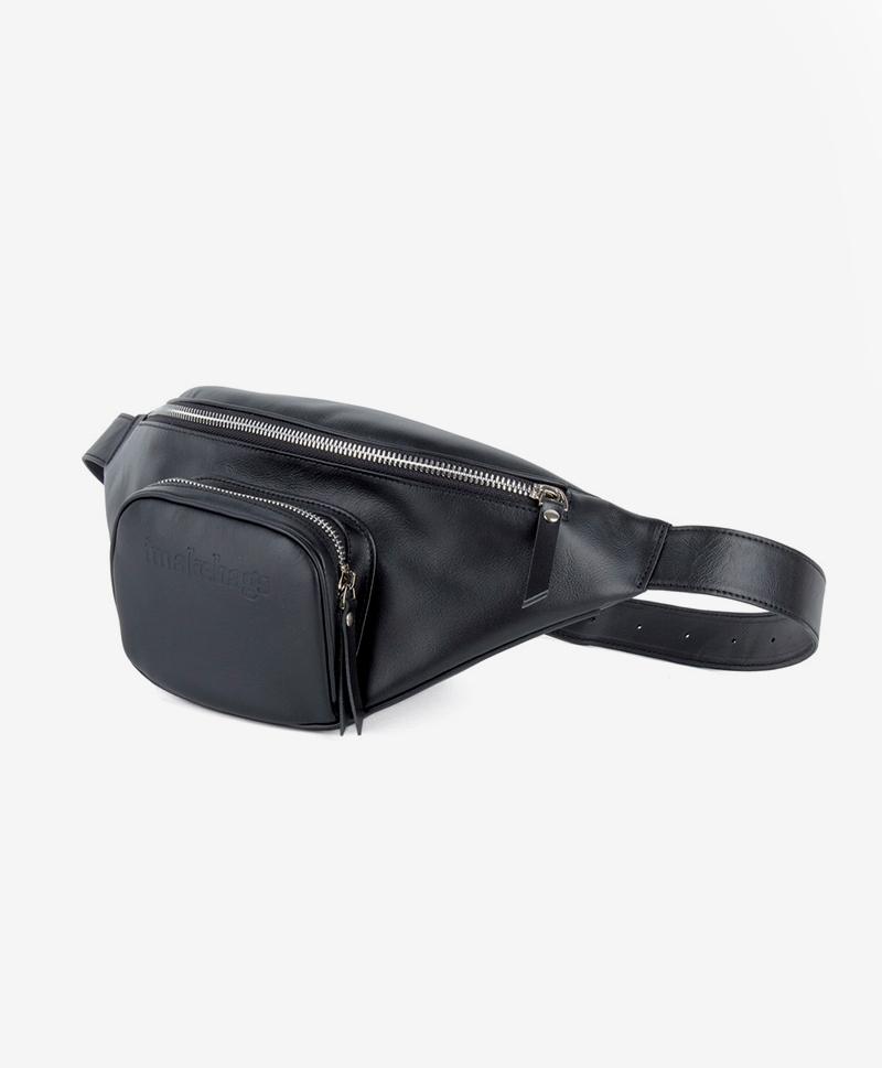 Поясная сумка черного цвета