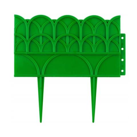 Бордюр декоративный GRINDA для цветников, 14х310см, зеленый