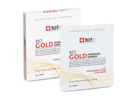 Маска гидроколлагеновая с коллоидным золотом для экспресс-ухода TETe BIO Gold Collagen Mask