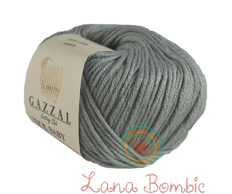 Пряжа Gazzal Baby Cotton XL серый 3430