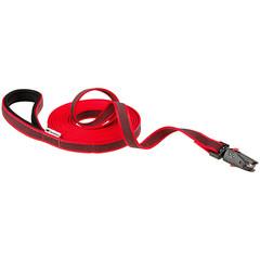 Поводок для собак с автоматическим магнитным карабином, Ferplast DAYTONA GUMMY MATIC G20/500, из прорезиненного нейлона, красный