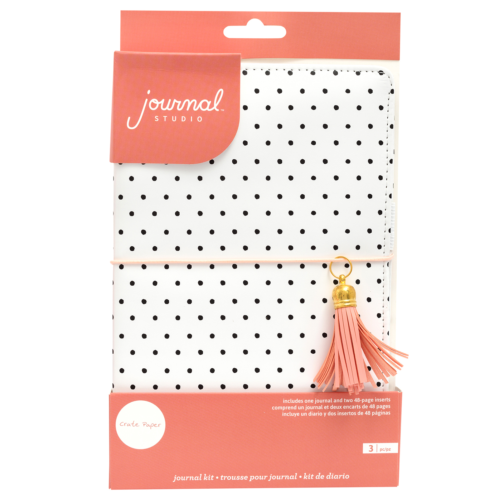 Блокнот (тревелбук) - American Crafts Journal Studio Kit  - 14х22 см -  Dot By Crate Paper