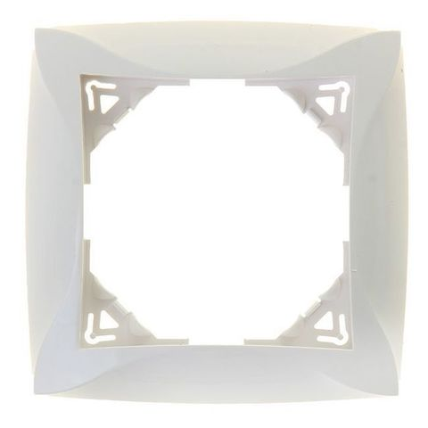 Рамка на 1 пост. Цвет Белый. Schneider Electric(Шнайдер электрик). Duet(Дует). WDE000101