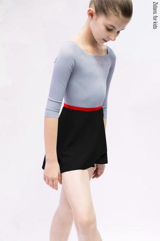 Комплект: купальник 2 Рукава серый + юбка