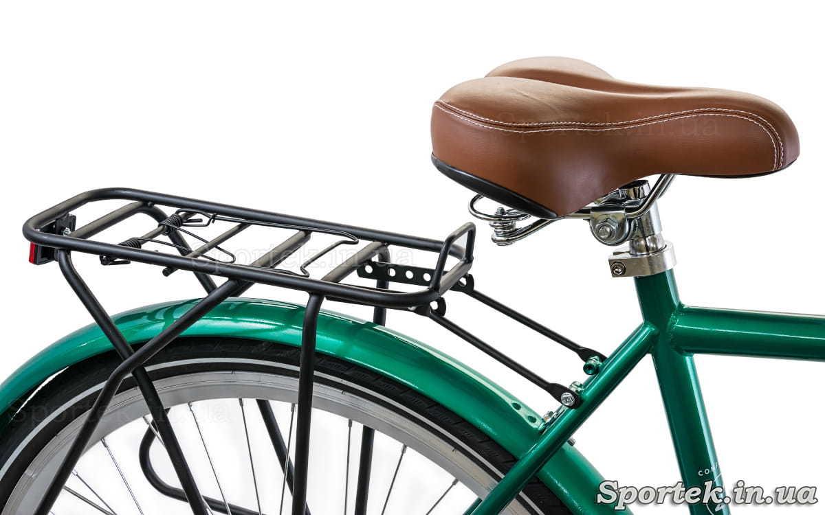 Городской мужской велосипед Dorozhnik Comfort Male 2018 - седло и багажник