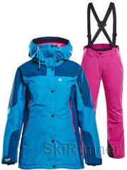 Горнолыжный костюм Sienna Ewe 18 Fjord Blue-Pink женский
