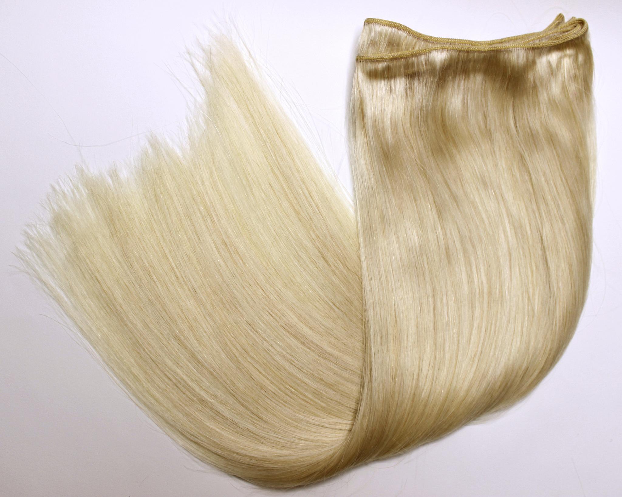 Тресс из натуральных волос длина 52 см-цвет блонд #613