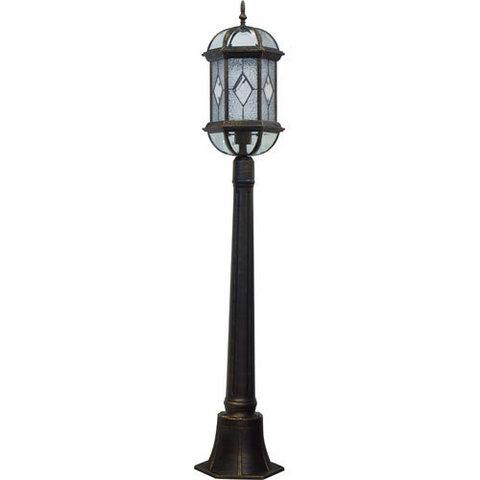 Светильник садово-парковый, 60W 230V E27 черное золото, PL170 (Feron)