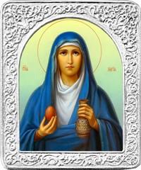 Святая Мария. Маленькая икона в серебряной раме.