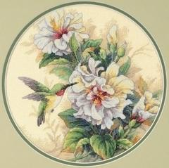 DIMENSIONS Колибри и бутоны гибискуса (Hibiscus Duo)