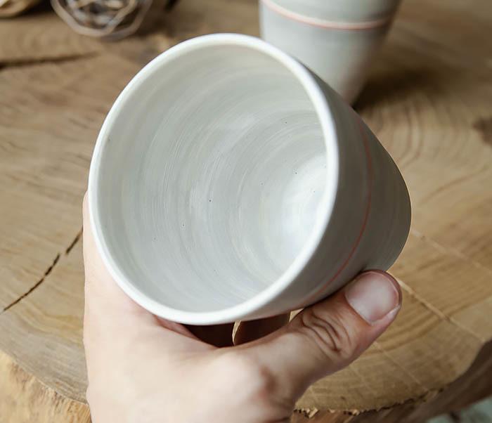 CUP107-1 Оригинальный керамический стакан ручной работы фото 09