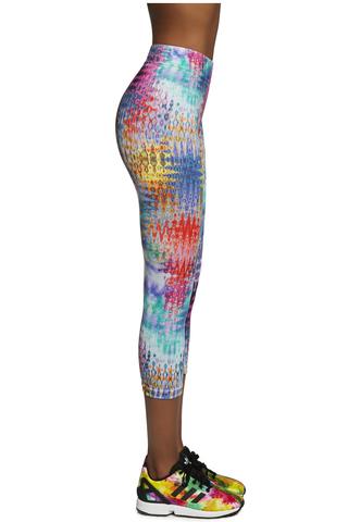 Легинсы-бриджи для фитнеса цветные