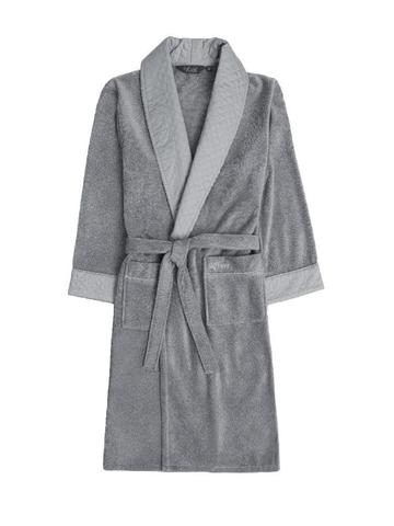 Class серый  махровый халат SOFT COTTON (Турция)