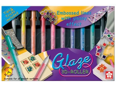 Набор в картонной коробке GLAZE 3D-ROLLER SET,10 штук