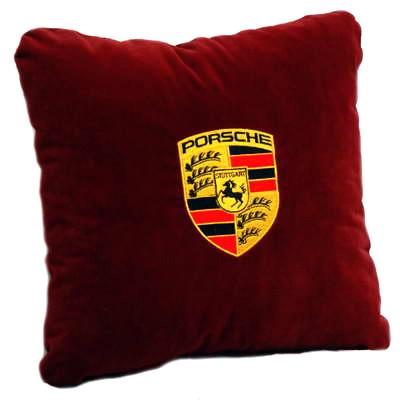 Подушка автомобильная с логотипом Porsche